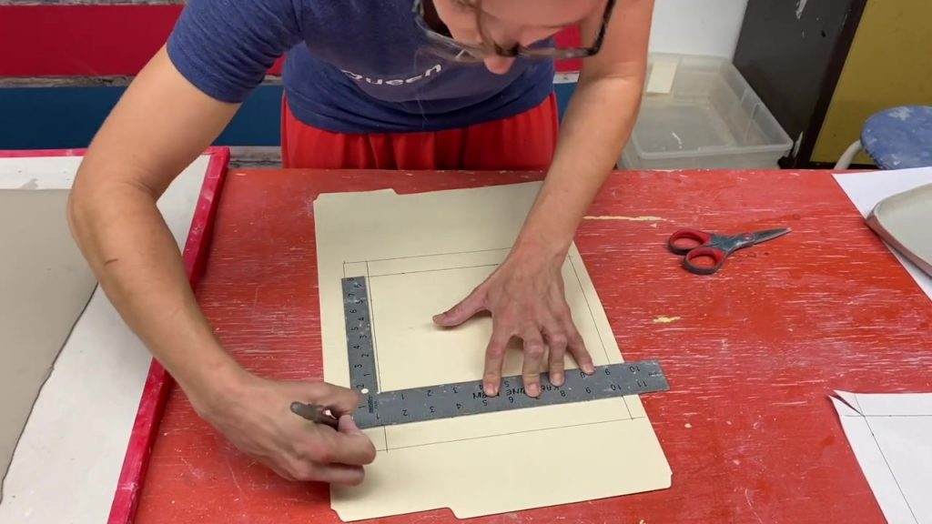 Making a Template for a Folded Slab Dish