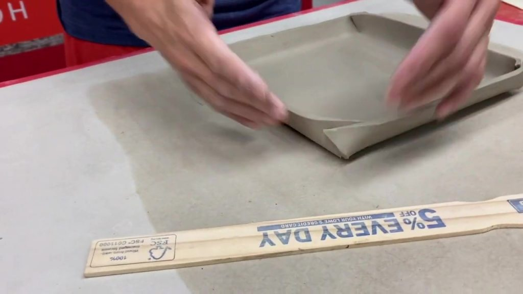 Using a Template to Make a Folded Slab Dish