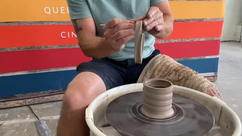 Trimming a Rim with a Needle Tool